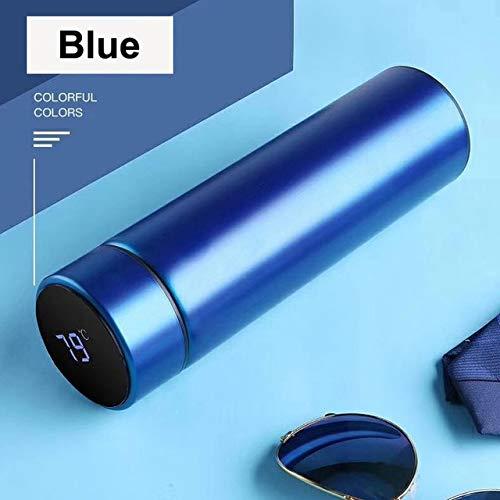 WZNB Thermoskan, temperatuurweergave, intelligente roestvrijstalen vacuüm-koffiemok, hete waterbeker, lekvrije zwarte technologie, 500 ml fotokleur