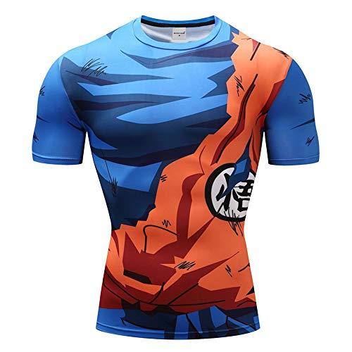 Charmley Dragonball z T-shirt de compression Son Goku T-shirt fonctionnel Fitness pour homme - - Medium
