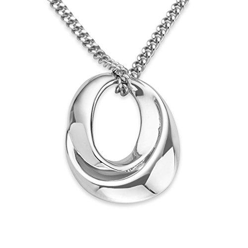 Miore Damen-Anhänger 925 Sterling Silber Halskette mit Anhänger 45 cm 925 Silber rhodiniert
