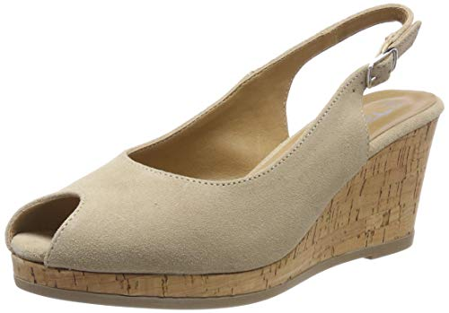 Tamaris Damen 1-1-29303-22 Peeptoe Pumps, Beige (Nature/Cork 320), 37 EU