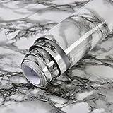 yuandp Impermeable PVC Vinilo Revestimiento Marmol Papel de Contacto para encimeras de Cocina Baño Papel Pintado Autoadhesivo Decoración del hogar 60 cm x 3 m