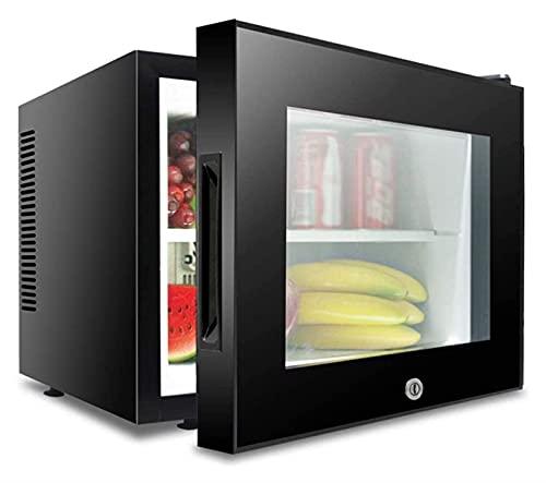 Mini refrigerador silencioso, mini refrigerador de bebidas de 20 L con rango de temperatura 8 ~ 15 ℃ Bloqueo de protección de seguridad 40DB 55W de bajo ruido para 220V (Color: Negro, Tamaño: 40x42x35