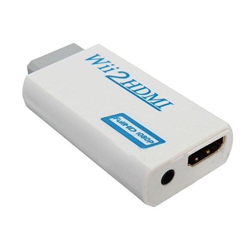 Conversor de viseo - SODIAL(R) Wii a HDMI Wii2HDMI Completo HD FHD 1080P Adaptador conversor 3.5mm clavija de salida de sudio