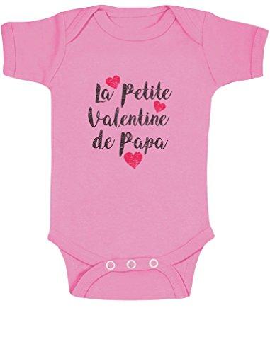Green Turtle T-Shirts La Petite Valentine de Papa Mignon Swagg Body Bébé Manche Courte 6-12 Mois Rose