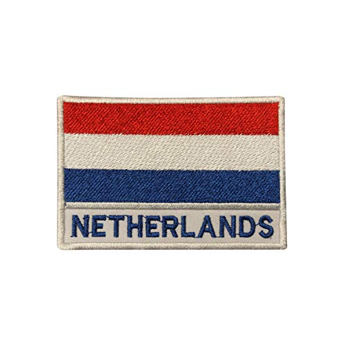Aufnäher / Bügelbild, Motiv: niederländische Nationalflagge, bestickt, für Kleidung etc.