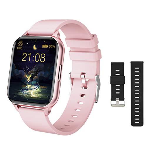 LDJ Q26 Fashion Smart Watch, IP68 Impermeable Monitoreo De Salud Tracker Temperatura Temperatura De Color 1.7 Pulgada Color Smart Wirstband,C