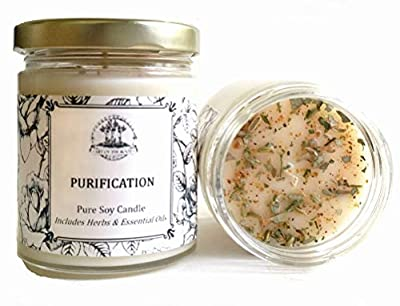 Art of the Root Purification 8 oz Soy Herbal Candle for Negativity, Unwanted Energies, Purifies, Cleanses & Banishes from Art of the Root, Ltd.