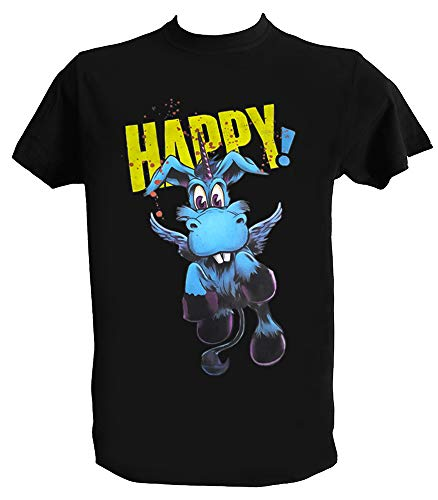 Desconocido Camiseta Happy Serie Hombre Niño Unicornio Nick Sax Series TV, Hombre - M