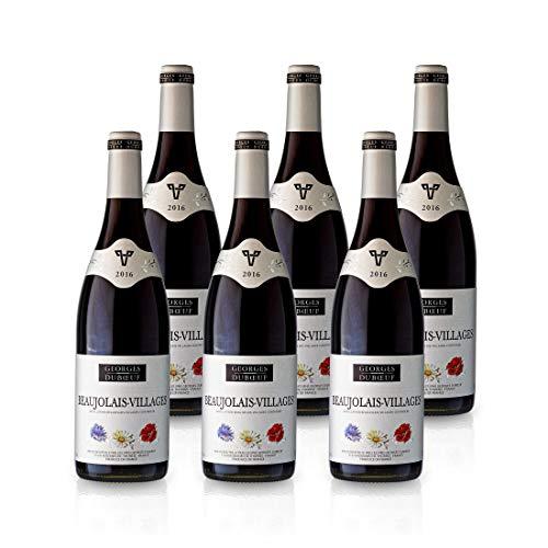 2016 Beaujolais Villages 'Fleurs' red - Georges Duboeuf - Rotwein (trocken) aus Frankreich/Beaujolais, Paket mit:6 Flaschen