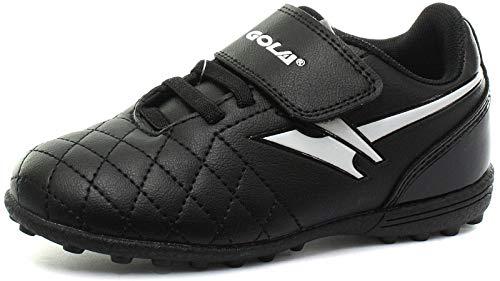 Gola AKA921 Football Boots, Black (Black White BW), 9 UK Child