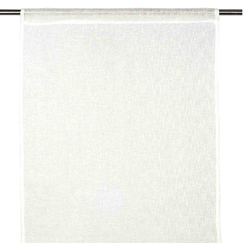 Madura 3308 Voilage de Vitrages en Lin Blanc 46 x 280 cm