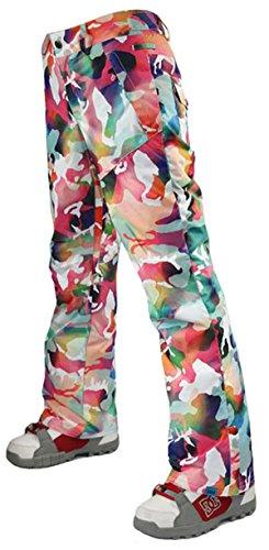 APTRO Women's Outdoor Insulated Snow Pants Windproof Waterproof Ski Pants 1421 Camo M