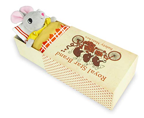 Foothill Toy Co. Matchbox Mice - Original & Tooth Fairy Playsets with Plush Toy Mouse in a Box, Remy