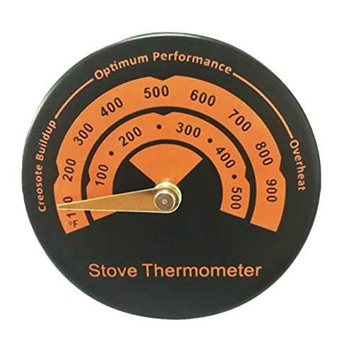 deYukiko open haard thermometer haard fan thermometer magneet adsorptietype zwart oranje