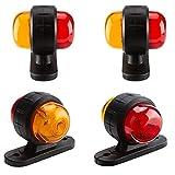 Pilotos Led Remolque 4 PIEZAS Marcador lateral Luz externa 1 2V 24V Piezas de recambio Mini Durable Tráiler Truco Seguridad Universal Signal Señal Señal Rojo Luces Para Remolque