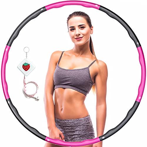 Hula Fitness Reifen Hula Fitness für Erwachsene & Kinder zur Gewichtsabnahme und Massage, Schaumstoff gepolstert 8 Wellenabschnitte Spleißen Abnehmbar Hula-Fitness-Reifen für Training