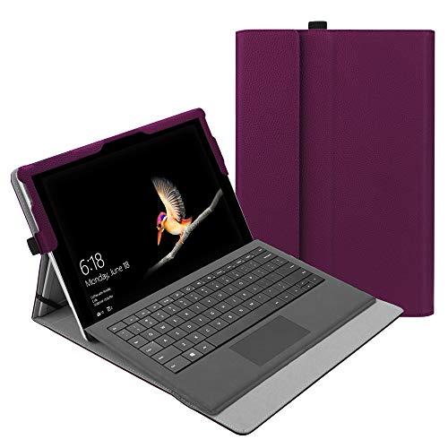 Fintie Hülle für Surface Go 2 2020 / Surface go 2018 10 Zoll Tablet - [Multi-Sichtwinkel] Hochwertige Kunstleder Schutzhülle Tasche Etui Cover Hülle mit Stylus-Halterung, Lila