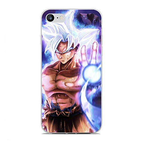 rongyixxzx Clear Coque Case Thin Soft Flexible TPU Protective Cover for Apple iPhone 6/6s-Goku-Japan Dragon-Ball 5