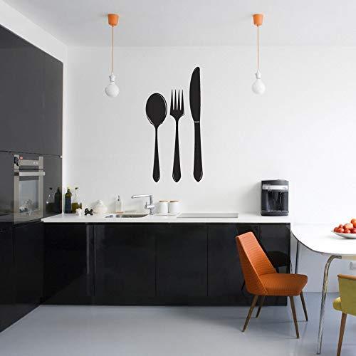 guijiumai Küche Vinyl Wall Decal Wort Aufkleber Löffel Gabel Messer Wand Kunst Wandaufkleber Restaurant Home Küche Dec38X75CM