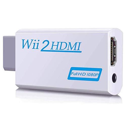 Wii HDMI Adapter, ARKIM Wii zu HDMI 720/1080P HD Converter Adapter mit 3,5mm Audioausgang, Wii 2 HDMI Konverter für Wii Monitor Beamer Fernseher