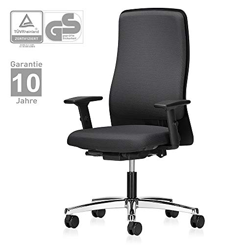 Interstuhl Bürostuhl 152I - ergonomischer Schreibtischstuhl mit verstellbaren 2D Armlehnen und höhenverstellbarer Rückenlehne – Drehstuhl modern mit rückenschonender Ergonomie