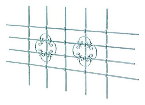 GAH-Alberts 553555 Fenstergitter Salzburg | Fenster-Gitter für außen als Einbruchschutz | feuerverzinkt | 1680 x 840 mm | kürzbar bis 1090 x 510 mm