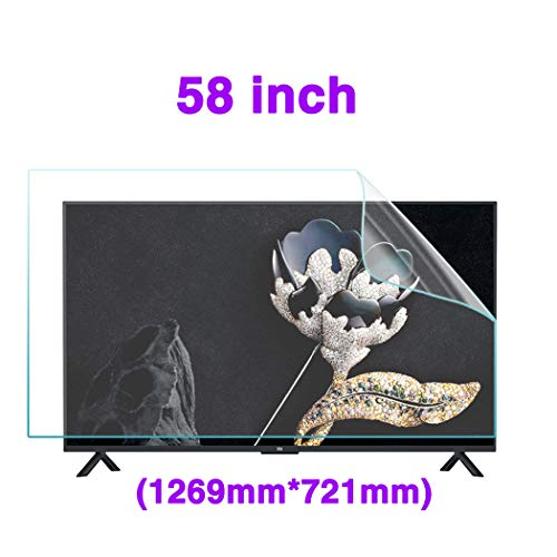 58 Inch Anti-Blu-Ray TV Screen Protector/Anti-Glare/Anti Scratch Film, Relieve Eye Fatigue, for Sharp, Sony, Samsung, Hisense, LG Etc