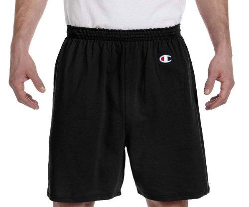 Champion Adult Cotton Gym Shorts, Blk, Large