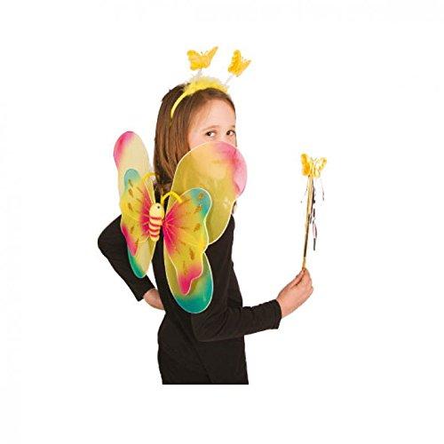 Papillon en jaune Lot de 3 Pièces Pour Les Enfants/aile Accessoire de costume Elfe/Fée Ailes/aile de papillon