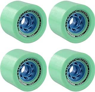 Seismic Skate Systems Alpha Mint Defcon Longboard Skateboard Wheels 60mm Running Surface - 80.5mm 76a (Set of 4)