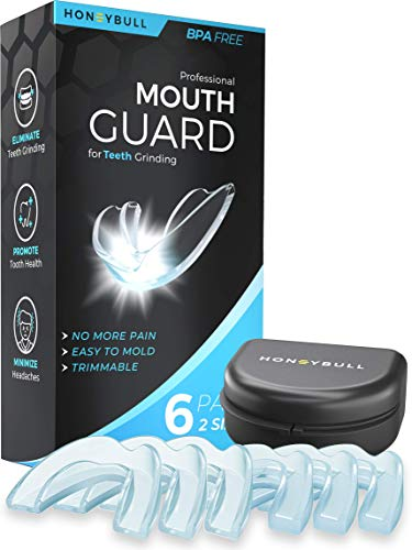 HONEYBULL Mouth Guard for Grinding Teeth [6 Pack - 2 Sizes]...