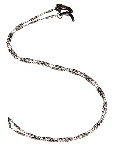 Corinne McCormack Women's Diamond Link Gunmetal Chain Square Eyeglass Leash, One Size