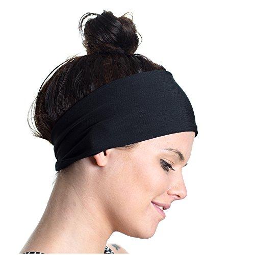 Sport-Stirnband, doppelseitig, feuchtigkeitsableitend, rutschfest - Fitness-Schweißband - Ideal fürs Fitnesstraining, Joggen, Tennis, Sport, Yoga & mehr - perfekt für aktive Frauen