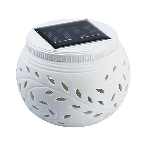 Keramische verlichting op zonne-energie, kleurveranderende led-waterdichte nachtlampjes, de beste cadeaulampen voor tuin, feest, Kerstmis, Hallowmas, huis, binnenplaats, buitendecoratie, (1 stuk)