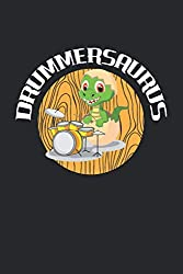 Drummersaurus: Funny Baby T-Rex Drummer. Graph Paper Composition Notebook to Take Notes at Work. Grid, Squared, Quad Ruled. Bullet Point Diary, To-Do-List or Journal For Men and Women.