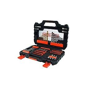 BLACK+DECKER Kit de Furar e Parafusar com Maleta 104 Peças
