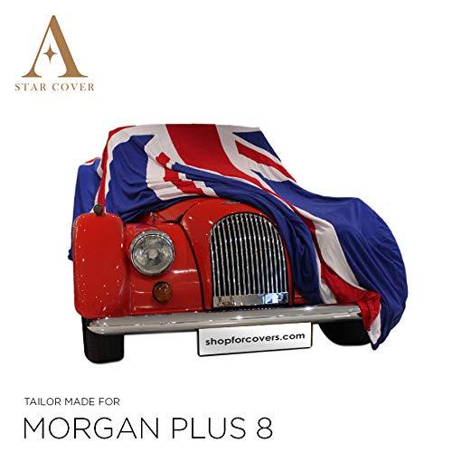 Star Cover Funda DE Coche Union Jack para EL Interior Morgan Plus 8 Tip | Lona Garaje para AUTOMÓVI
