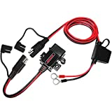 MOTOPOWER MP0609AA 3.1Amp Waterproof Motorcycle USB Charger Kit SAE to USB Adapter Cable