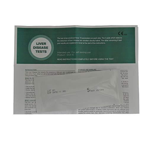 5 x Home Liver Function Test Kit - Urine Testing Strips -...