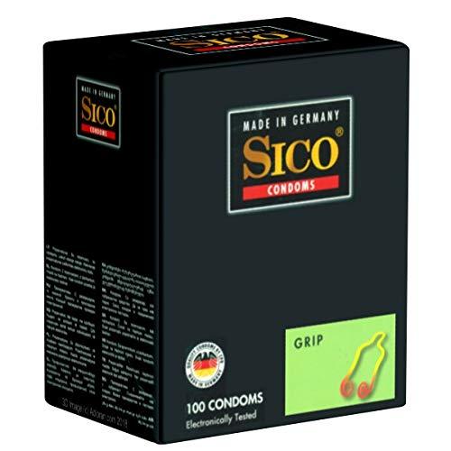Sico Grip - 100 Kondome Maxipack - Kondome mit Rollrand, verhindert Abruschen, fester Sitz in jeder Stellung