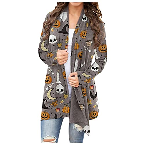 Plus Size Halloween Costumes for Women,Women's Halloween Pumpkin Cat Graphic Pullover Sweatshirt,Crewneck Long Sleeve Sweater Tops Casual Shirts Lightweight Coat