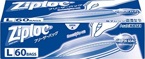 スマートマットライト 【大容量】ジップロック フリーザーバッグ L 60枚入