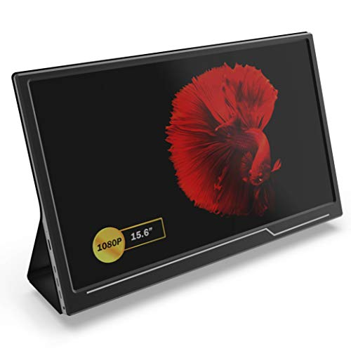 Portable Monitor - GTEK 15.6 Inch IPS Full HD 1920x1080 Screen with Speaker, External Dual Computer...