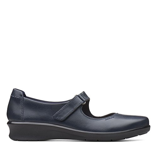 Clarks Damen Hope Henley Slipper, Blau (Navy Leather), 39.5 EU