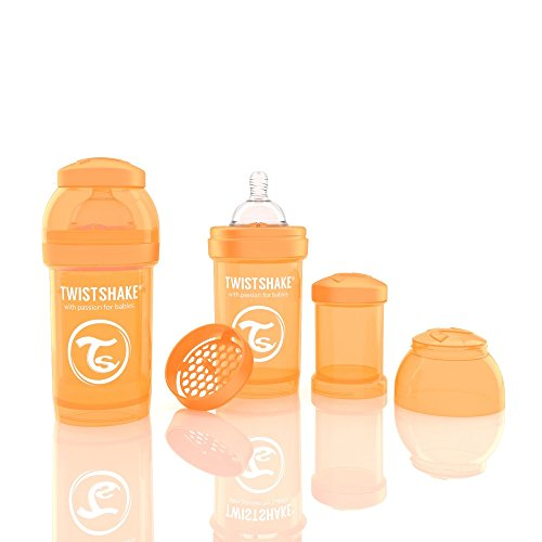 Twistshake 78003 Biberon anti-coliche, Arancione, 180 ml