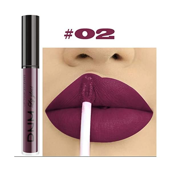 Beauty Shopping 10pcs/Set Makeup Matte Lipstick Lip Kit, Velvety Liquid Lipstick