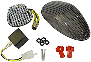 waase E-Marked DOT-Marked Motorcycle Rear Tail Light Brake Turn Signals Integrated Led Light (Smoke, For Kawasaki Vulcan 900 Classic/LT / Custom 2006 2007 2008 2009 2010 2011 2012 2013 2014-2016)