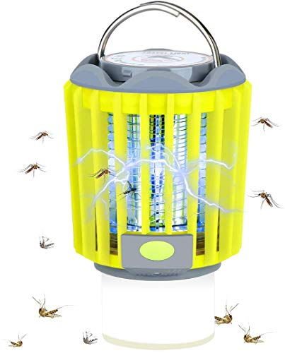 Bug Zapper, 3 in 1 Mosquito Killer Tent Light/Portable LED Camping Lantern Flashlight/Camping Lamp,Anti Bug Insect Repellent for Indoor and Outdoor