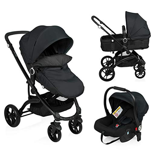 Little World Kinderwagen City Walker 3 in 1 Zwart