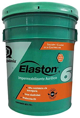 ELASTON PLUS 6 IMPERQUIMIA, Color Rojo, 19 Litros, Impermeabilizante Acrílico, 6 años